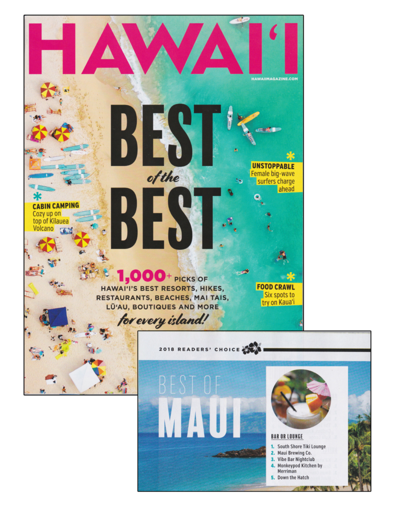Best Bar on Maui 2018 - Hawaii Magazine